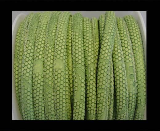 imitation nappa leather 6mm Snake-Dotted-Style-Peridot