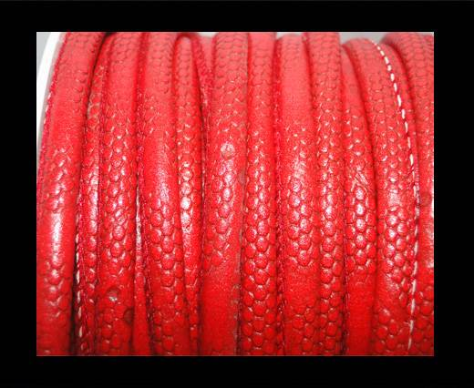 imitation nappa leather 6mm Snake-Dotted-Style-Red