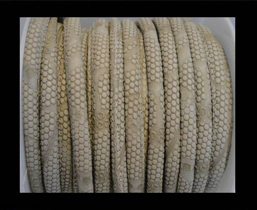 imitation nappa leather 6mm Snake-Dotted-Style-Toupe