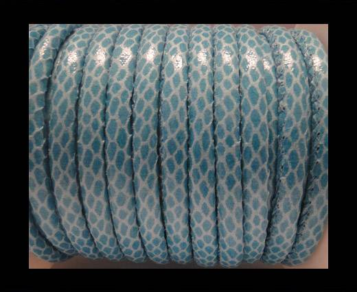 Buy imitation nappa leather 6mm Snake Skin-Turqoise at wholesale prices