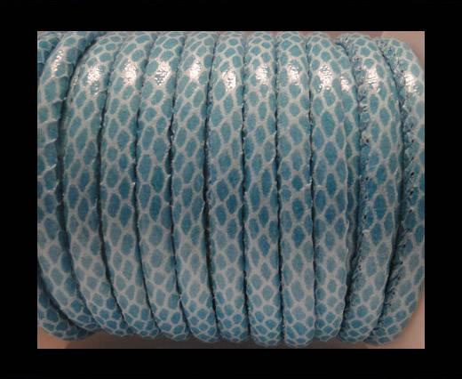 imitation nappa leather 6mm Snake Skin-Turqoise
