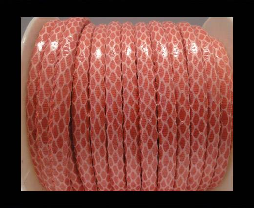 faux nappa leather 6mm Snake-Skin-Pink