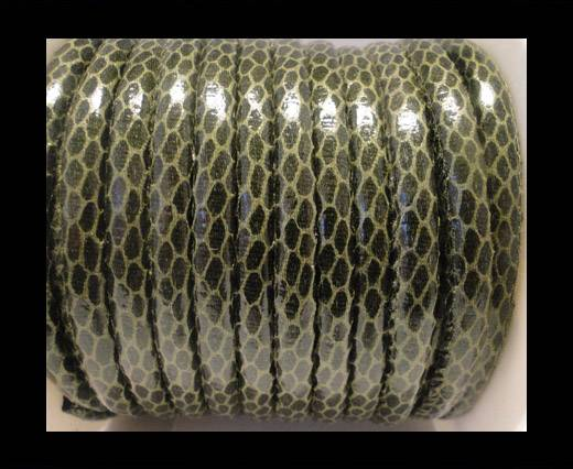 Buy faux nappa leather 6mm Snake-Skin-Bottle-Green at wholesale prices