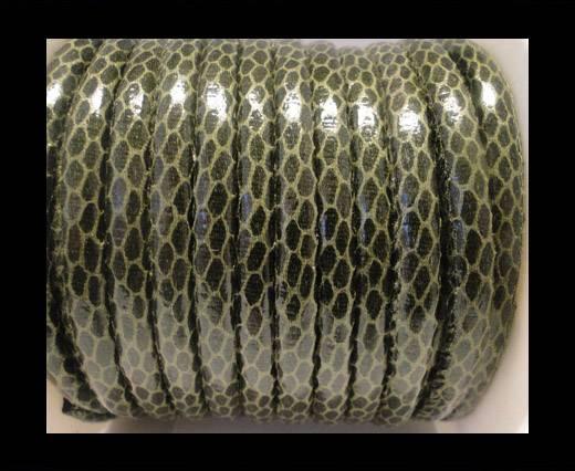 faux nappa leather 6mm Snake-Skin-Bottle-Green