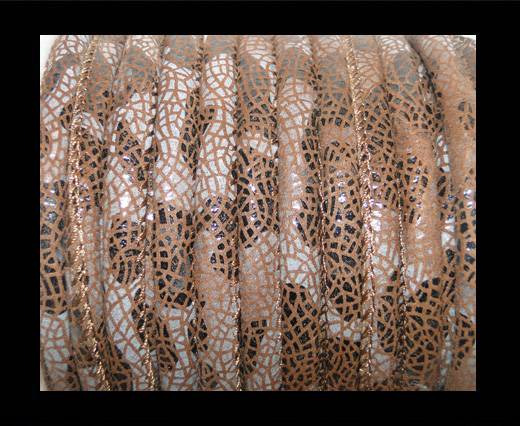 faux nappa leather 6mm Stingray-Fish-Style-Coffee