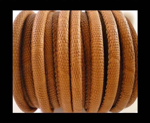 Faux nappa leather 6mm Crocodile Style - Dark Orange
