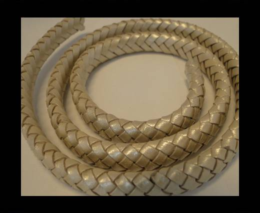 Oval Regaliz braided cords - 10mm-Metallic Sun