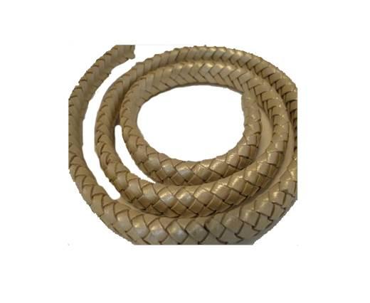 Oval Regaliz braided cords - 10mm-Metallic Sun