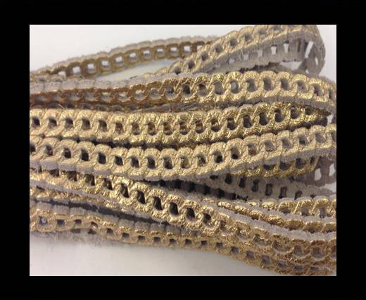 Buy Nappa Leather - chain style - 5mm - Gold at wholesale prices