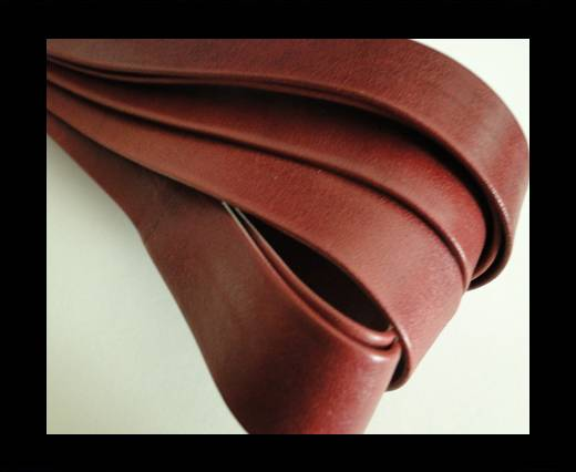 Nappa Leather Flat-Bordeaux-20mm