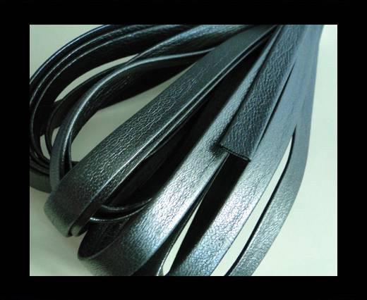 Nappa Leather Flat-Metallic Gunmetal-10mm