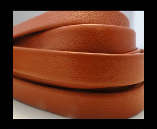 Nappa Leather Flat-Dark Orange-10mm