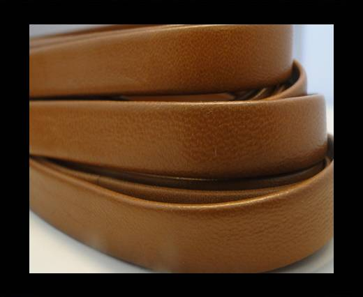 Nappa Leather Flat-Light Brown-10mm