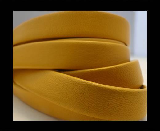 Nappa Leather Flat-Yellow-10mm