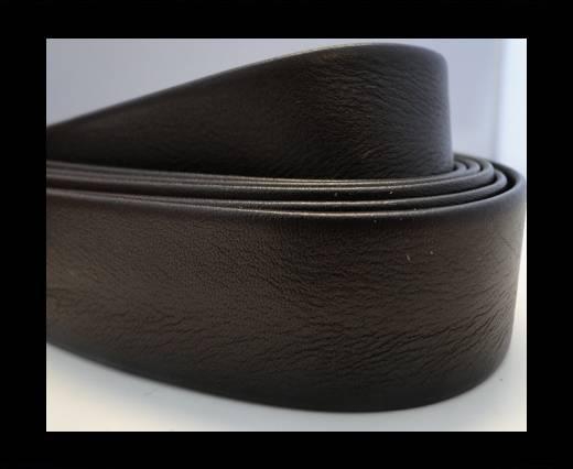 Buy Nappa Leather Flat-Shiny Dark Brown-10mm at wholesale prices