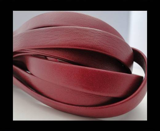 Nappa Leather Flat-Bordeaux-10mm