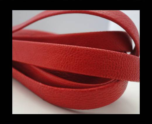 Nappa Leather Flat-Light Red-10mm