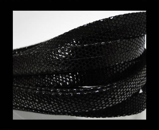 Nappa Leather Flat-plain style - Black -10mm