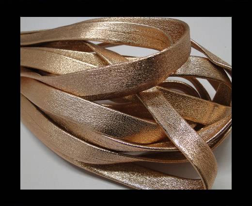 Nappa Leather Flat-plain style - Rosegold -10mm