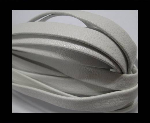 Buy Nappa Leather Flat-plain style - White-10mm at wholesale prices
