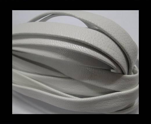 Nappa Leather Flat-plain style - White-10mm
