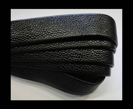 Buy Nappa Leather Flat-caviar style black-20mm at wholesale prices