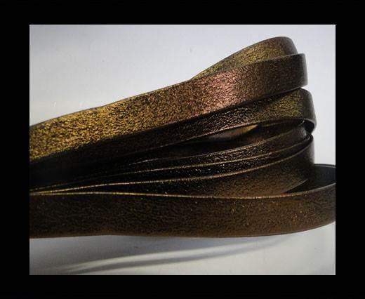 Nappa Leather Flat-10mm-Bronze Lamina