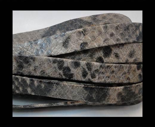 Nappa Leather Flat- python grey 10mm