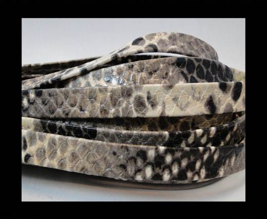 Nappa Leather Flat- python taupe 10mm