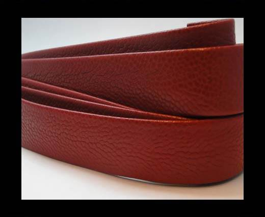 Nappa Leather Flat-Snake Style Red-20mm
