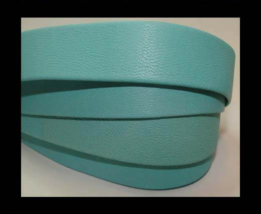 Nappa Leather Flat-Turquoise-20mm