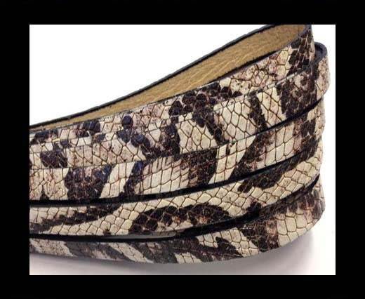 Buy Italian Flat Leather 10mm by 2mm-Crocodile Beige at wholesale prices