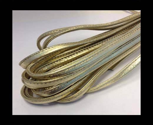 Nappa-Sewn-7mm-Plain Style - Gold