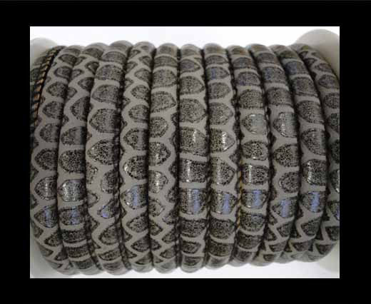 faux nappa leather 6mm Snake-Patch-Style -Dark Grey