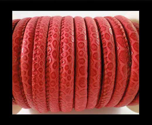 imitation nappa leather 6mm Snake-Patch-Style - Red