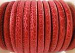 imitation nappa leather 4mm Snake-Patch-Style -Red