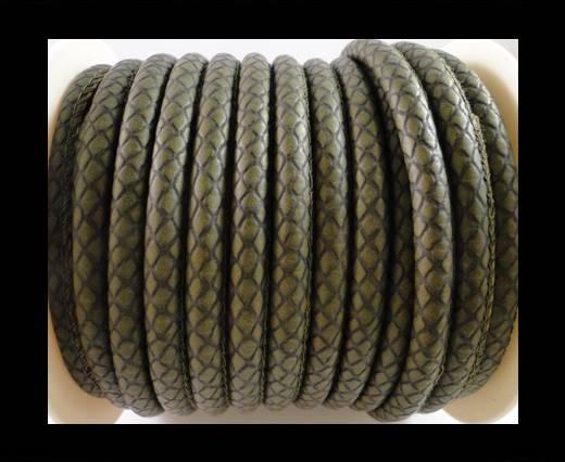 faux nappa leather 6mm Snake-Patch-Style - Light Grey