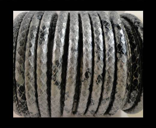 imitation nappa leather 6mm Snake Skin -Oblong Grey