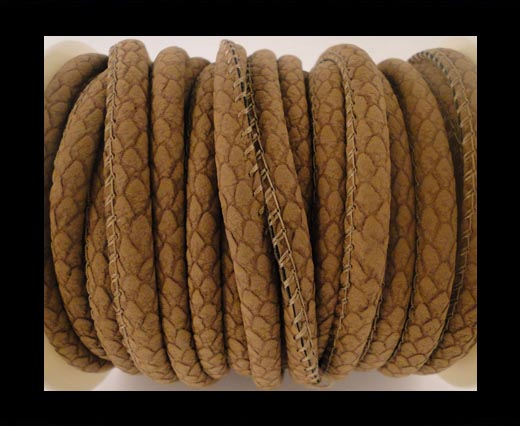 Buy faux nappa leather 6mm Snake-Style-Spot -Peru at wholesale prices