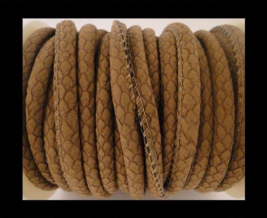 faux nappa leather 6mm Snake-Style-Spot -Peru
