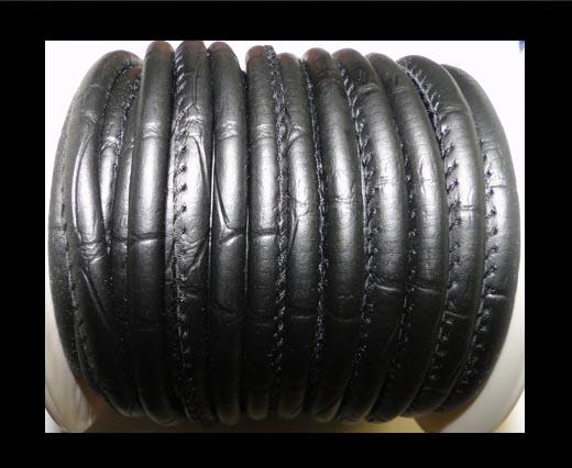 faux nappa leather 6mm Snake-Style -Spot-Style-Dark Blue