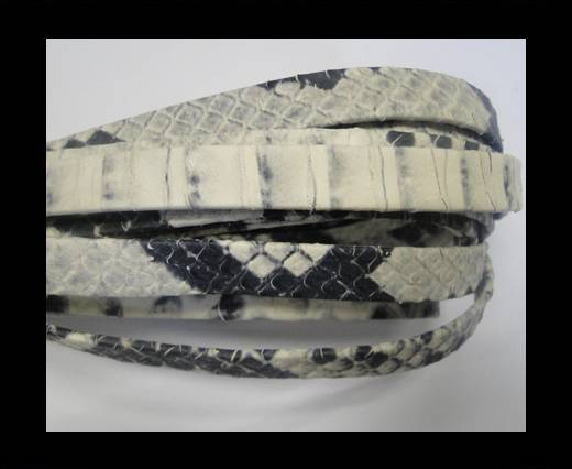 NappaFlat-Snake Style-10mm-black-white