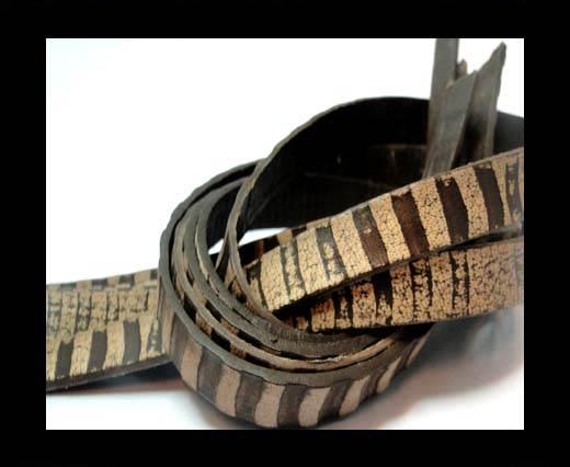 NappaFlat-Zebra Style-Brown -10mm