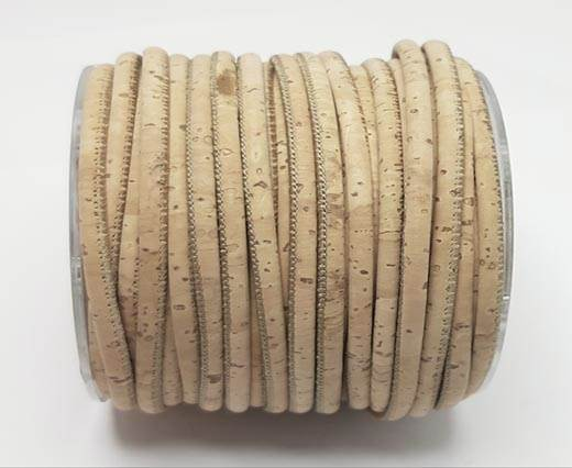 Real Cork Round - 3mm - Natural