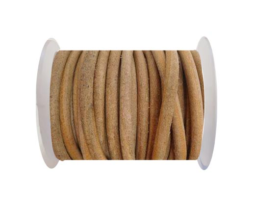 Round Leather Cord - Natural-5mm