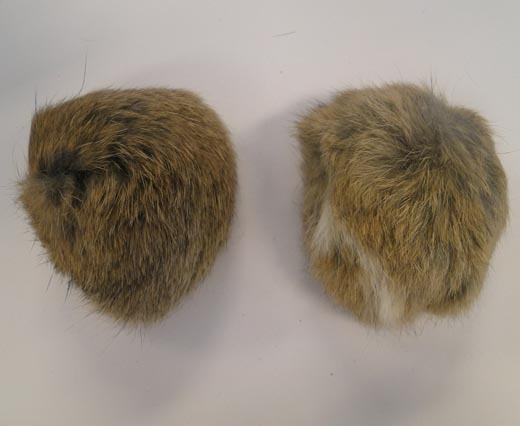 Rabbit Fur Pom Pom-Natural-7cms