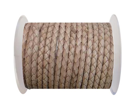 Buy Full Round leather Cords - 8mm - Natural at wholesale prices