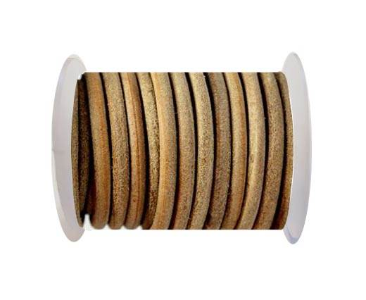 Round leather Cords - 8mm - Natural