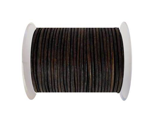 Round Leather Cord-1,5mm-Natural antique brown