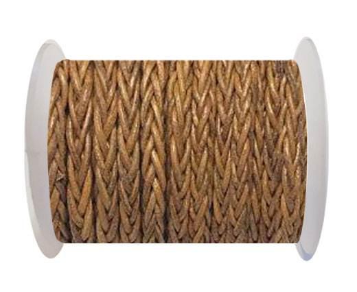 Round Braided Bolo cords - 6mm-dark natural